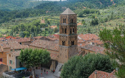 View of Moustiers Sainte-Marie, traditional village of Provence Stock Image