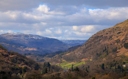 View from moutains above ambleside Royalty Free Stock Photo