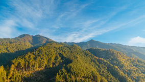 View of Moutains on the way to Koyasan in wakayama Royalty Free Stock Photos