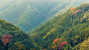 View of Moutains on the way to Koyasan in wakayama Stock Image