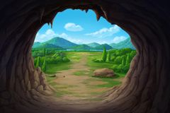 View at the mouth of the cave. royalty free illustration