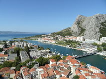 View of the mouth of Cetina stock photo