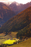 View of a mouuntain valley Royalty Free Stock Images