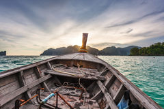 View from a moving boat Royalty Free Stock Images