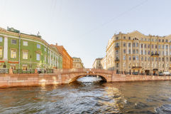 View of the Moyka river. Saint Petersburg Royalty Free Stock Images