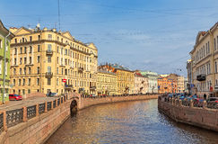 View of the Moyka river, St. Petersburg Stock Images