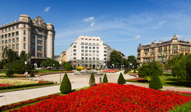 View of Moyua square  in Bilbao Royalty Free Stock Photo
