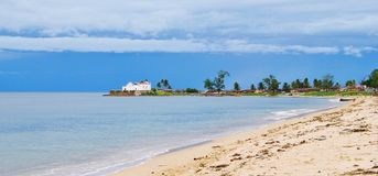 A view of Mozambique Island. A view from the beach at Mozambique Island Stock Images