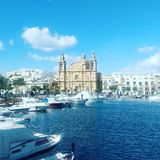 View in Msida. A view in a Maltese City Royalty Free Stock Photography