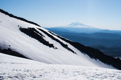 View of Mt. Adams from nearby mountain. View of Mt. Adams from Mt. St. Helens Stock Photo