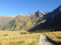Mount Aspiring National Park. View in Mt Aspiring NP royalty free stock photography
