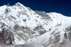 View of Mt Cho Oyu, Gokyo, Solu Khumbu, Nepal. View of Mt. Cho Oyu from moraine of Ngozumpa Glacier, Gokyo, Solu Khumbu, Nepal Royalty Free Stock Photo