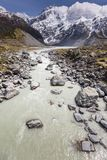 View of Mt Cook National Park, New Zealand. Stock Photos