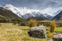View of Mt Cook National Park, New Zealand. Royalty Free Stock Image
