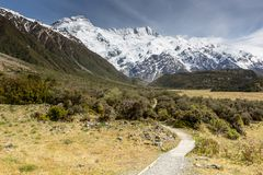 View of Mt Cook National Park, New Zealand. Royalty Free Stock Photography