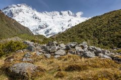 View of Mt Cook National Park, New Zealand. Royalty Free Stock Photo