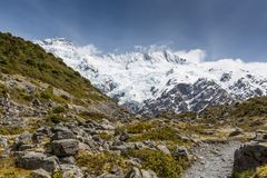 View of Mt Cook National Park, New Zealand. Stock Images