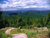 View from Mt. Coolidge. This is the second highest peak in the area of the Peter Norbeck Scenic Byway royalty free stock photo