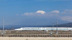 View of Mt Fuji and Tokaido Shinkansen Stock Photos