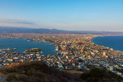 View from mt. Hakodate Royalty Free Stock Photo