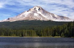 View of Mt Hood from the Lake. Mt Hood on a clear day in Northwest America stock photography