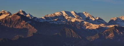 View from Mt Niederhorn, Switzerland Royalty Free Stock Images