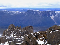 View from Mt Ossa. The spectacular view from Mt Ossa, Tasmania's highest peak (Australia Royalty Free Stock Images