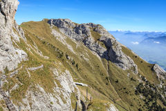 View from Mt. Pilatus in autumn Stock Image