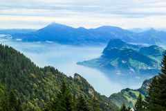 View from Mt. Pilatus, Lake Luzern, Switzerland Royalty Free Stock Photo