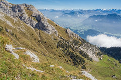 View from Mt. Pilatus Royalty Free Stock Photography