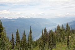 View from Mt Revelstoke Stock Photos