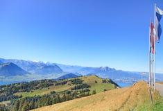 View from Mt. Rigi. Switzerland, autumn Stock Photo