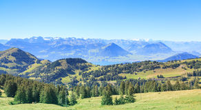View from Mt. Rigi. Switzerland, autumn Stock Image