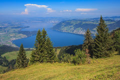 View from Mt. Rigi in Switzerland in autumn Royalty Free Stock Photo