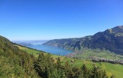 View from Mt. Rigi, Switzerland. September Stock Photos