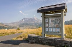 Mt. St. Helens and a board of instructions. Stock Photos