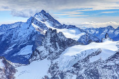 View from Mt. Titlis in the Swiss Alps Royalty Free Stock Photography