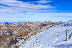 View from Mt. Titlis in the Swiss Alps Stock Photos