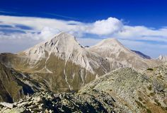 A view of Mt. Vihren, the peak in Eastern Europe. A view of Mt. Vihren, the highest peak in Eastern Europe Stock Photo