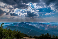 View from Mt. Washburn in Yellowstone National Park Royalty Free Stock Photos