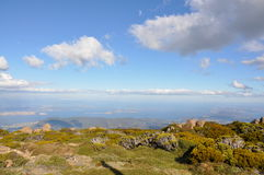 View from Mt Wellington lookout. A view over Hobart, Tasmania from Mt Wellington Stock Image