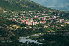 View Of Mtskheta Georgia. Uptown, Residential Area On Green Hillside Stock Image