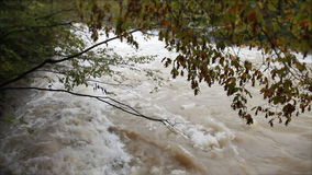 View of a muddy river running stock video footage