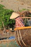 View of Mui Ne fishing village Stock Photography