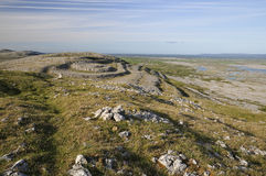 View from Mullaghmore. Limestone Pavement mountains viewed from the top of Mullaghmore, The Burren National Park, Co. Clare, Ireland Royalty Free Stock Photography