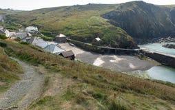 View of Mullion village Cornwall UK the Lizard peninsula Mounts Bay near Helston Stock Photo