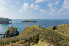 View of MullionIsland Cornwall UK the Lizard peninsula Mounts Bay near Helston Stock Photo