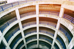 View of multilevel parking Stock Image