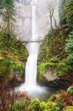 The  view of Multnomah falls Royalty Free Stock Photos