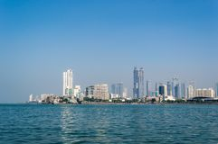 A view of Mumbai city from sea side stock images